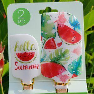 """Hello Summer"" Two Spatulas - Watermelon"